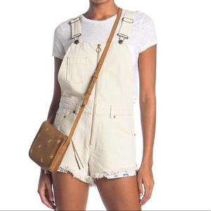 Free People NWT Sunkissed Denim Short Overalls 12